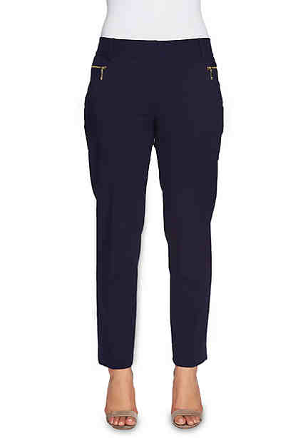 CHAUS Dena Zipper Pocket Pants ...