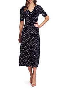 81f73733ade ... CHAUS Lisa Dot Print Tie Waist Dress