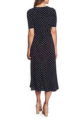 860d7c0838 ... CHAUS Lisa Dot Print Tie Waist Dress