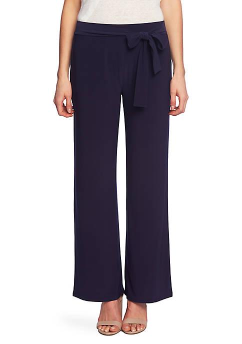 CHAUS Tie Waist Matte Jersey Pants