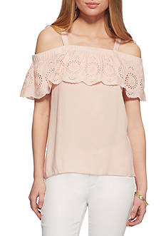 Jessica Simpson Roblin Cold Shoulder Top