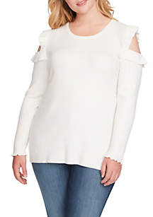 Amenta Cold Shoulder Sweater