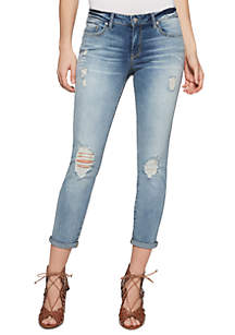 Jessica Simpson Forever Skinny Roll Cuff Jeans