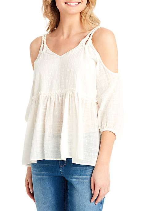Jessica Simpson Elizabeth Cold Shoulder Top