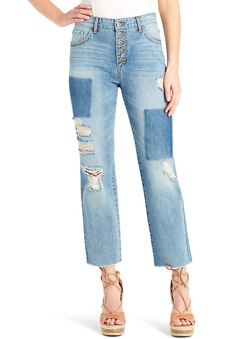 Jessica Simpson Adored Crop Straight Jeans