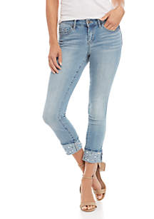 Forever Rolled Pearl Skinny Jeans