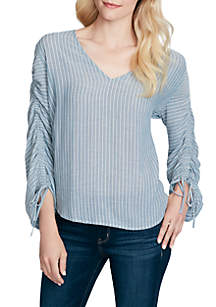 Miller Straight Ruched Sleeve Top