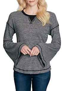 Flare Sleeve Waffle Knit Ionna Top
