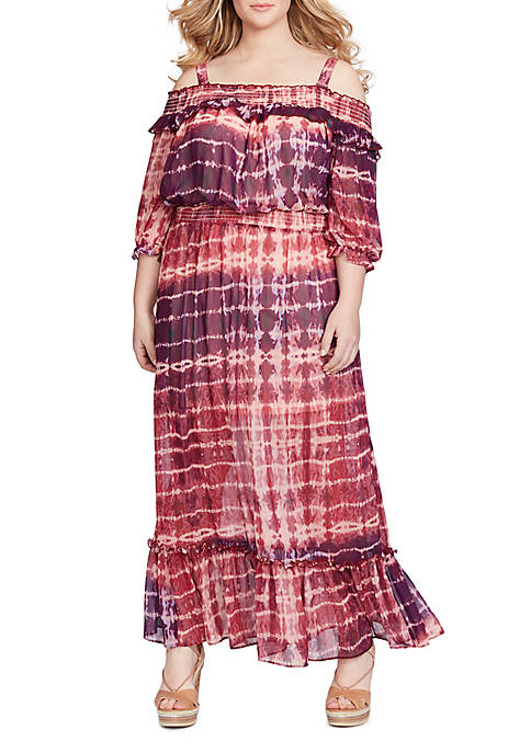Jessica Simpson Dahlia Off-the-Shoulder Maxi Dress