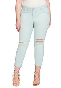 Plus Size Forever Roll Ankle Denim Pants