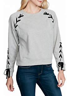 Kiana Lace-Up Sweatshirt
