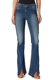 Adore High Rise Front Split Flare Jeans