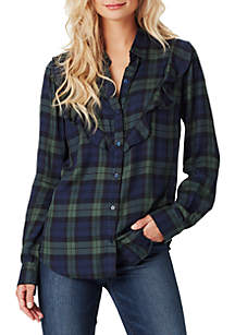 Petunia Ruff Plaid Shirt
