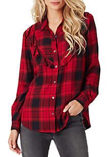 Petunia Ruff Plaid Shirt