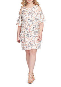 Plus Size Dolina Cold Shoulder Dress