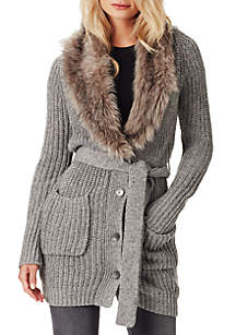 Annie Fur Collar Cardigan