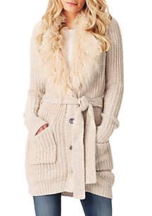 Annie Fur Collar Cardigan