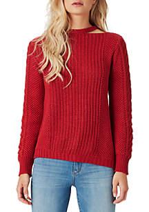 Oasis Asymmetric Cutout Sweater