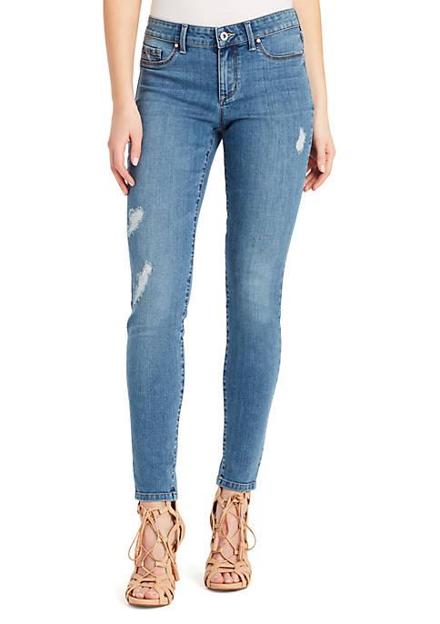 Jessica Simpson Kiss Me Super Skinny Destruction Jeans