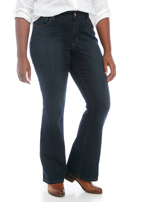 Curvy Adored High Rise Flare Jeans