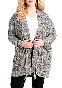 Plus Size Yuki Fringe Sweater