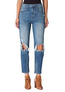 Infinite Straight Destructed Denim Jeans