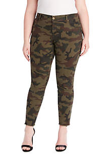 Plus Size Adored Ankle Skinny Camo Pants