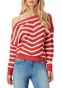 Mei Chevron Stripe Sweater