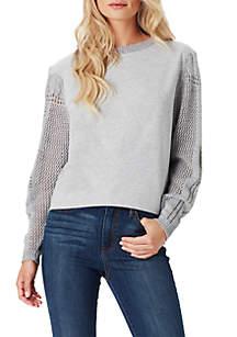 Susie Textured Sleeve Sweatshirt