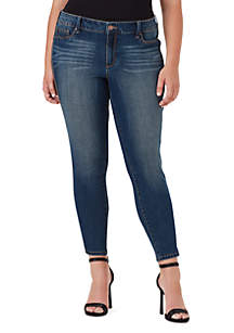 Jessica Simpson Plus Size Kiss Me Skinny Chain Tuxedo Jeans