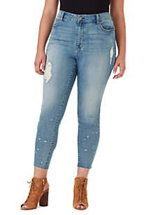 Curvy High Rise Razor Hem Jeans