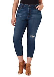 Curvy Adored High Rise Destruction Jeans