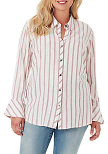 3c9b0f94bc2 Jessica Simpson Forever Skinny Roll Cuff Jeans · Jessica Simpson Plus Size  Xavier Smock Back Shirt