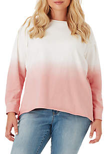 Plus Size Dasha Dip Dye Sweatshirt