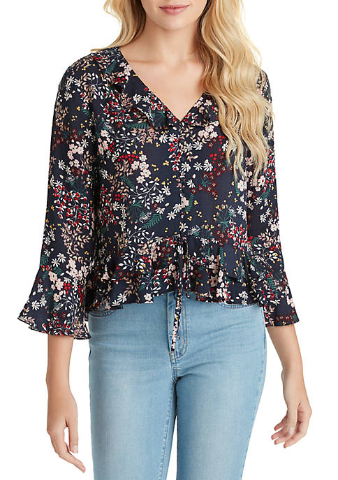 Jessica Simpson Bronwyn Button Up Top