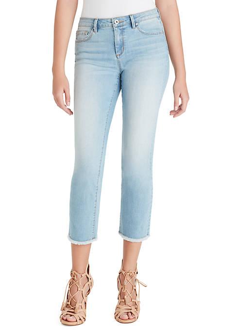 Jessica Simpson Arrow Straight Fray Ankle Jeans
