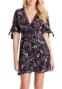 Jessica Simpson Brooklyn Tie Up Button Dress