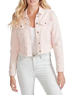 91b306f39dd27 Jessica Simpson Jackie Printed Jumpsuit · Jessica Simpson Pixie Frayed Hem  Jacket
