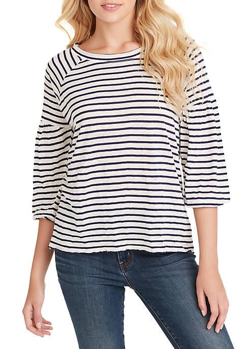3/4 Sleeve Suwa Striped Top