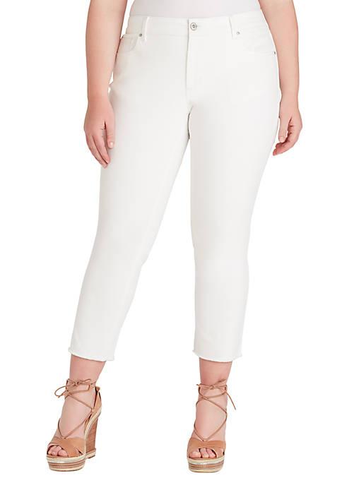 Jessica Simpson Plus Size Arrow Straight Ankle Jeans