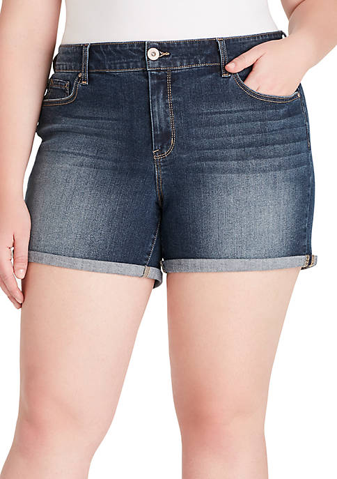 Jessica Simpson Plus Size Forever Rolled Shorts