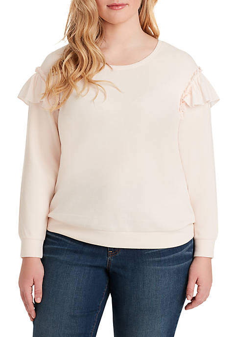 Jessica Simpson Plus Size Jayna Ruffle Sleeve Top