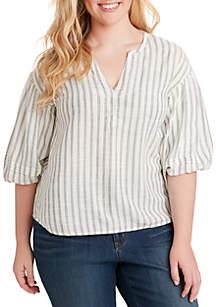 Jessica Simpson Plus Size Sena Bubble Sleeve Top