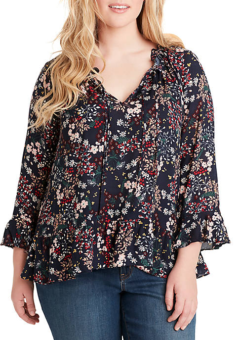 Plus Size Bronwyn Button Up Top