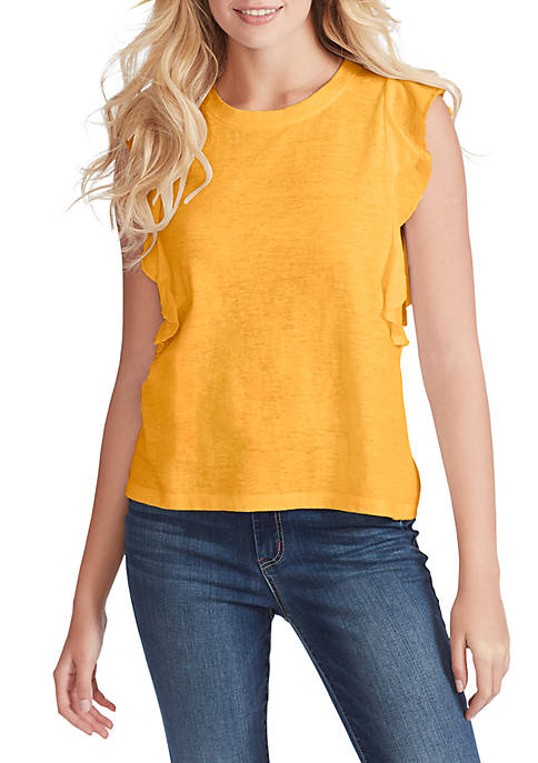 Jessica Simpson Flutter Sleeve Knit Top