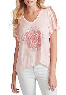 Jessica Simpson Frankie Slit Sleeve T Shirt