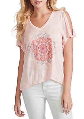 d2972167d Jessica Simpson Frankie Slit Sleeve Graphic T Shirt ...