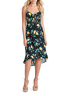 Jessica Simpson Shana Printed High Low Dress