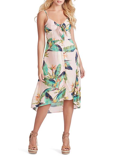 Shana Printed High Low Dress