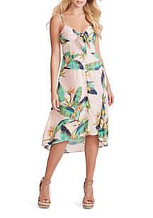 Jessica Simpson Shana Printed High Low Dress